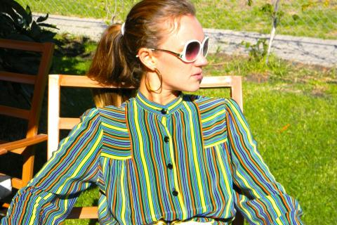1970s Stripe Heaven Vintage dress Photo