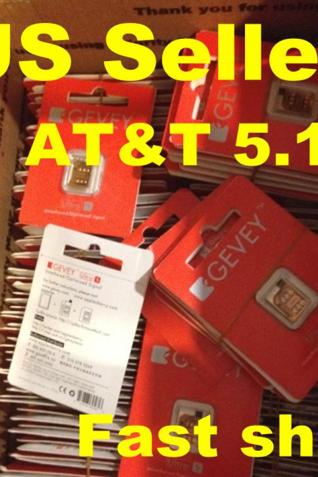 Gevey Ultra S Turbo Sim Unlock GSM Apple iPhone 4S iOS 5.0/5.0.1/5.1/5.1.1 Large Photo