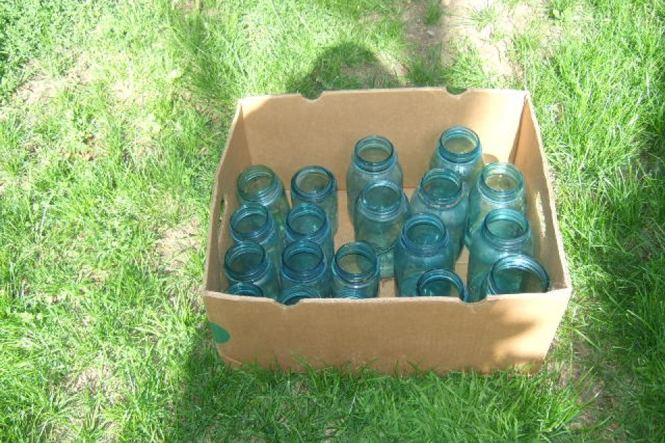 Old Blue Canning Jars Large Photo