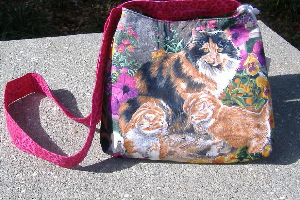 Cat family purse Large Photo
