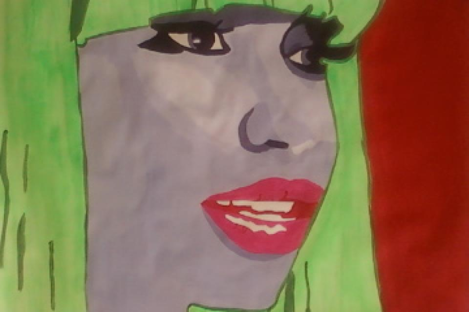 Nicki MiNAJ Acrylic on 18 x24 Poster Paper Large Photo