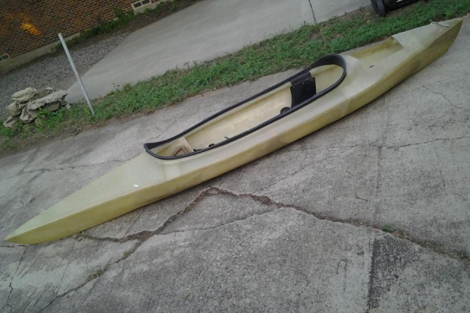 Fiberglass Kayak w/All The Fixins Light Large Photo
