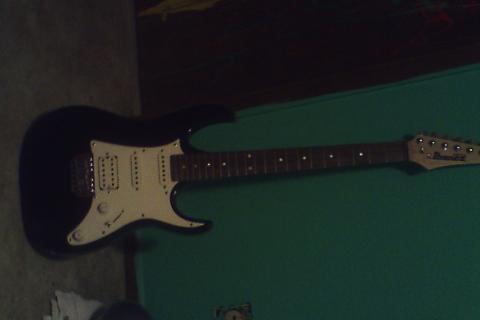 Black Ibanez Electric Guitar Photo