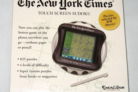 The New York Times Touch Screen SUDOKU Hand Held Game NEW IN BOX Photo