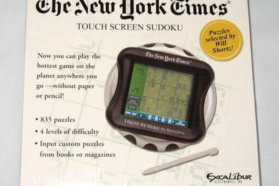 The New York Times Touch Screen SUDOKU Hand Held Game NEW IN BOX Large Photo