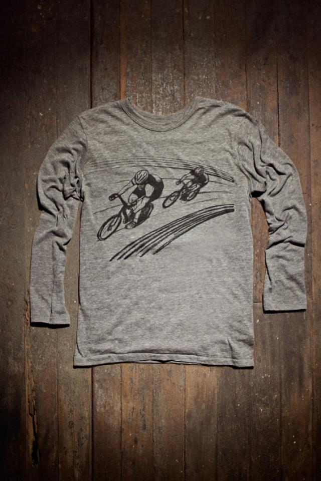Mens Long Sleeve Shirt: Cycling track (S, M, L, XL) Large Photo