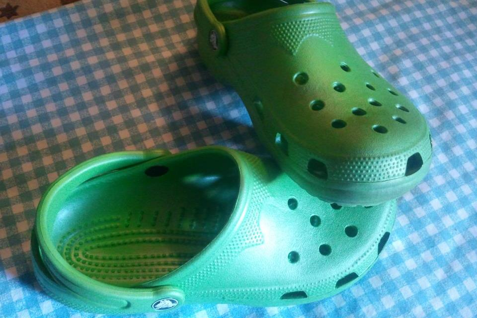 Green CROCS Classic Style Clogs Large Photo