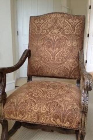 NAIL HEAD TRIM ARMCHAIR originally $1500 Photo