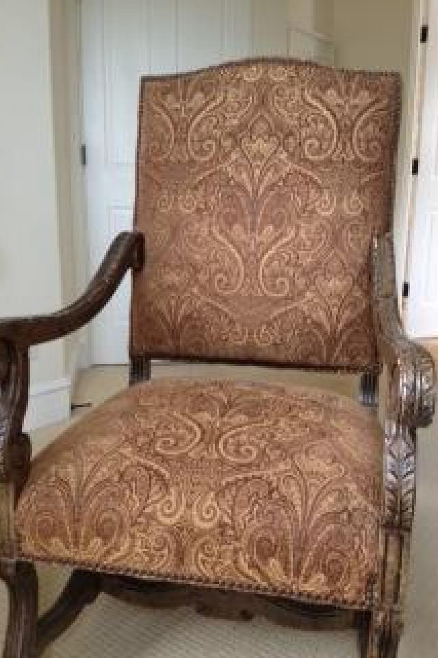 NAIL HEAD TRIM ARMCHAIR originally $1500 Large Photo