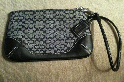 Authentic COACH Mini-C Black Wristlet Photo