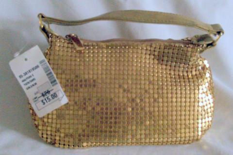 GOLD METAL MESH EVENING BAG Photo