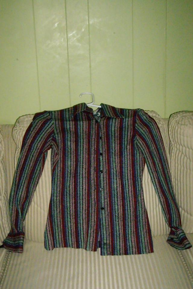Striped nylon collared shirt Photo