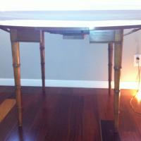 Vintage Drexel Heritage Faux Bamboo Table Photo