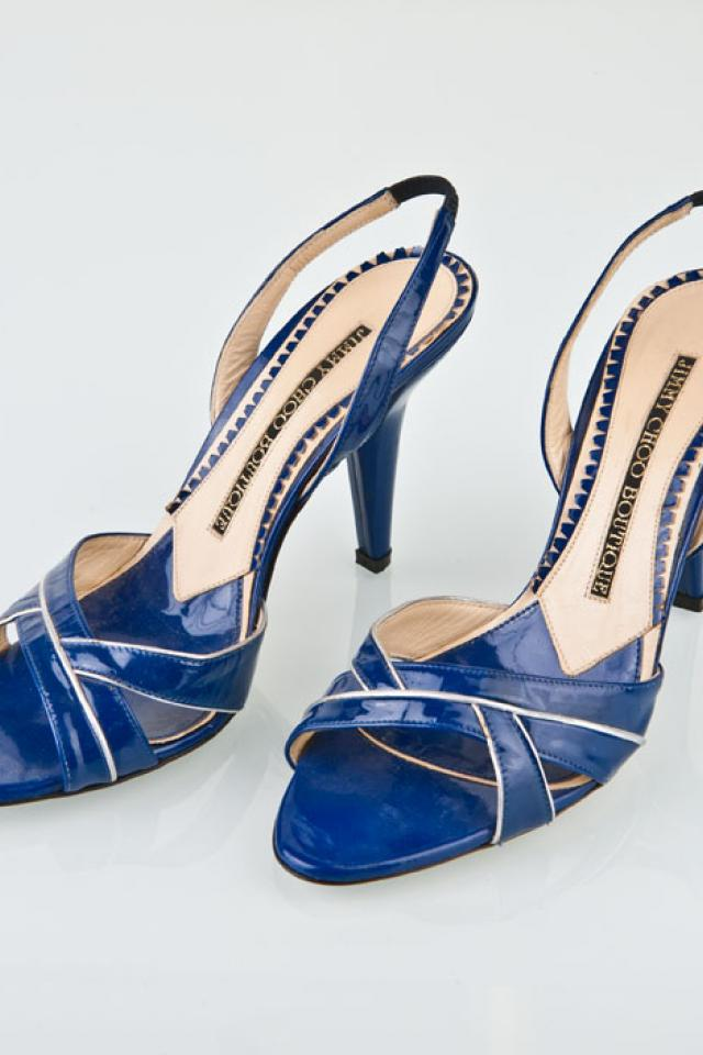Jimmy Choo Blue Heels Large Photo