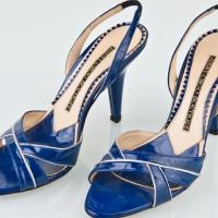 Jimmy Choo Blue Heels Photo