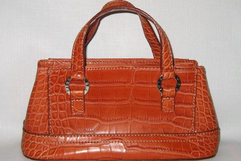 Tommy Hilfiger Red Croco Look Handbag Purse Tote New without tags. Photo