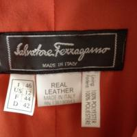 Ferragamo Coral Leather Jacket, 100% authentic and Gorgeous Photo