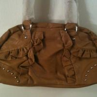 New tan purse with rhinestones  Photo