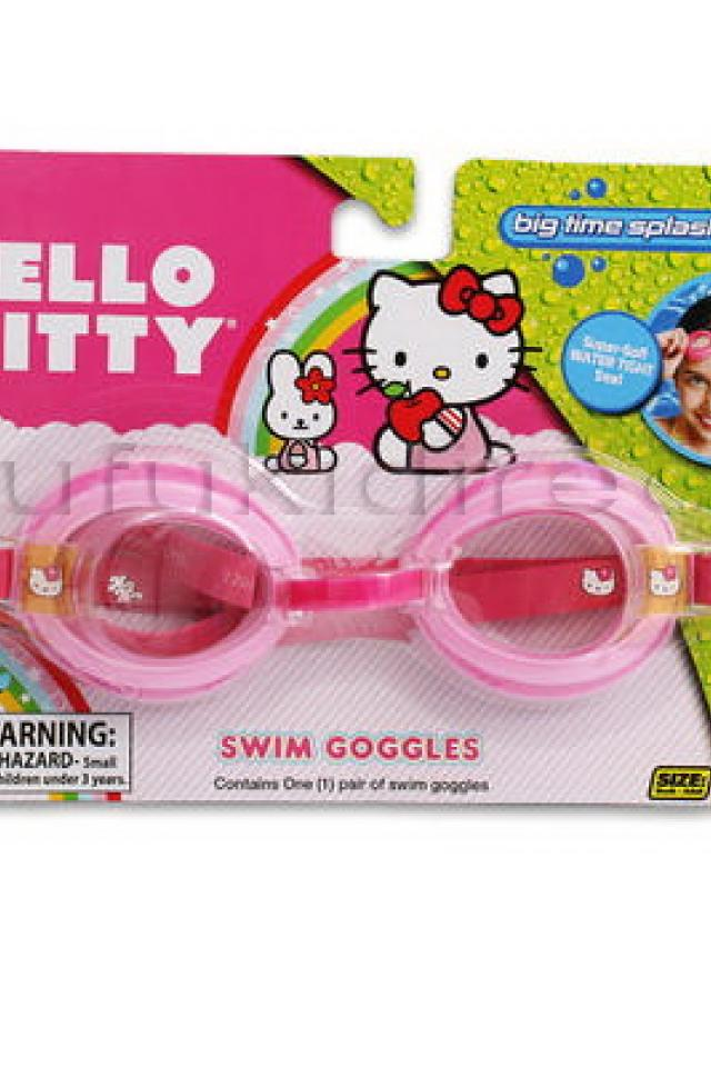 Sanrio Licensed Hello Kitty Kids Youth Size Swim Swimming Pool Water Goggles  Large Photo