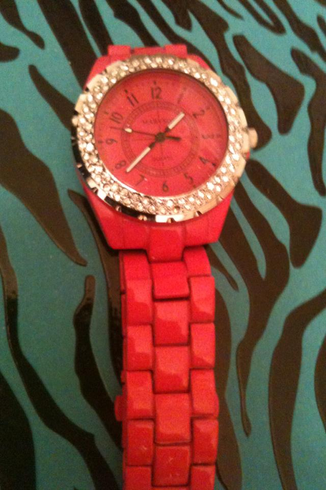 Free shipping Hot pink watch  Photo