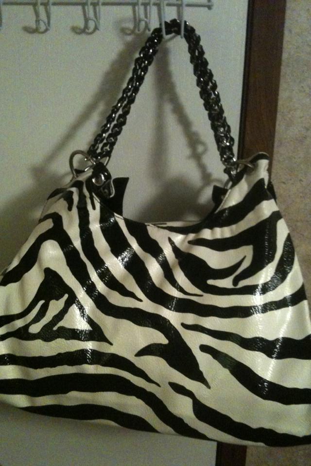 Free shipping NEW zebra print purse  Large Photo