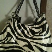 Free shipping NEW zebra print purse  Photo
