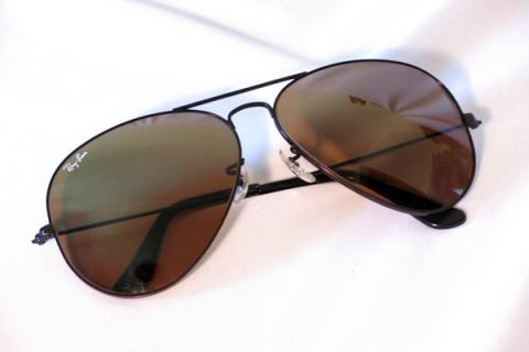 RayBan AVIATOR 1993 TopGun Gradient Mirror Metal BLACK L1694 62mm sunglasses Lg Photo