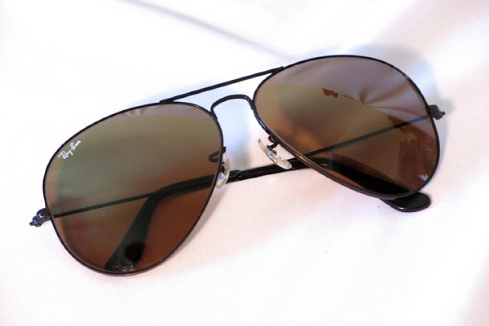 RayBan AVIATOR 1993 TopGun Gradient Mirror Metal BLACK L1694 62mm sunglasses Lg Large Photo