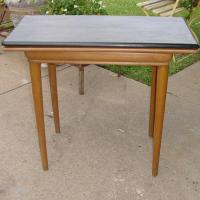 FOLD OUT GAME TABLE HOLLYWOOD REGENCY PERIOD Photo