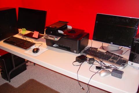 NEW Two Computers w/ Monitors, Printer, & Accessories. Hewlett-Packard & Dell Photo