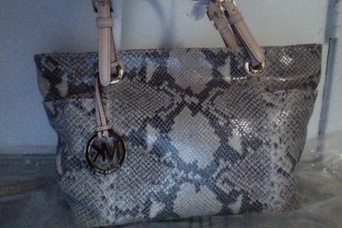 Authentic Michael Kors Snake Skin Handbag Photo