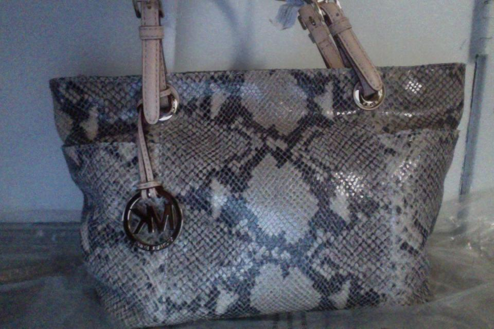 Authentic Michael Kors Snake Skin Handbag Large Photo