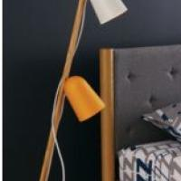 CB2 Clutch Oak Floor Lamp Photo