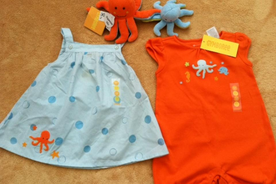 Gymboree NWT At the Beach Collection- 4 piece set (3-6 mos) Large Photo