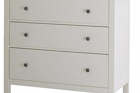 WHITE 3-drawer chest Photo