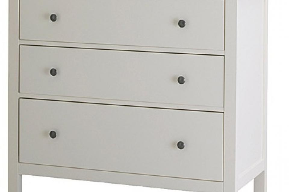 WHITE 3-drawer chest Large Photo