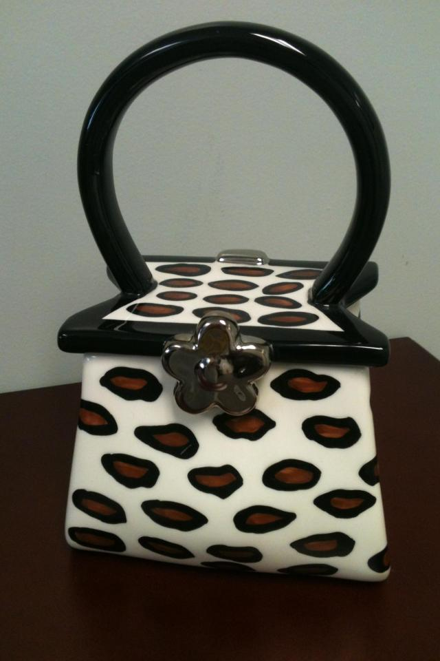 Ceramic Leopard Print Purse Photo