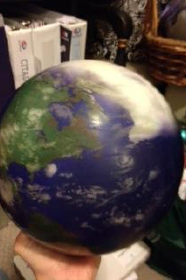 sweetest bowling ball ever made - satellite picture of beautiful Mother Earth! Large Photo