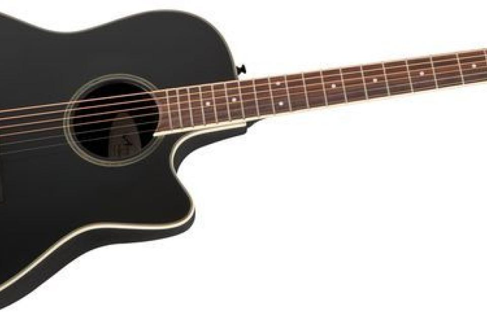 Applause AE128 Super Shallow Acoustic-Electric Guitar Black Large Photo