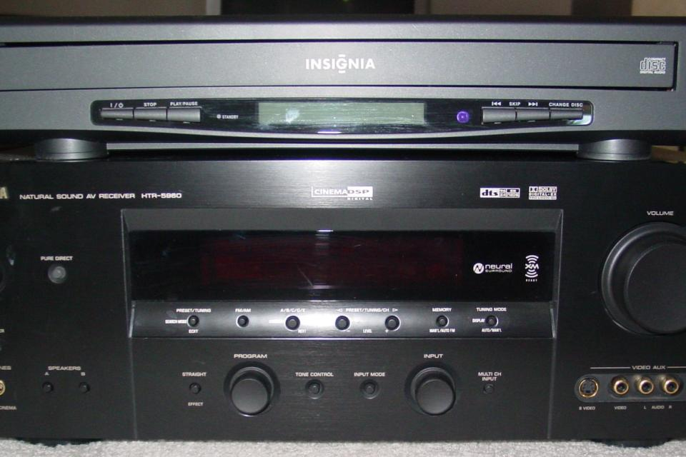 Yamaha 7.1 Channel Receiver w/6-disc Changer PERFECT Condition Large Photo