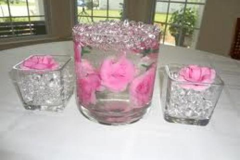 Gorgeous Pink Water Beads for Plants/Flowers/Decoration Photo