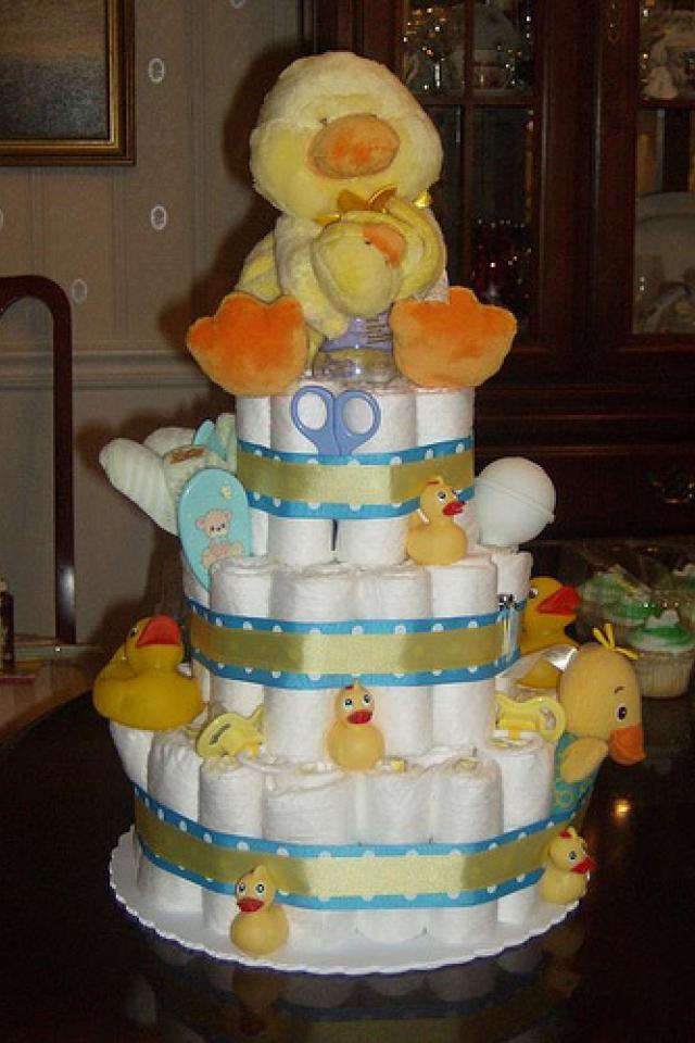 Diaper Cake 3 Tier Photo