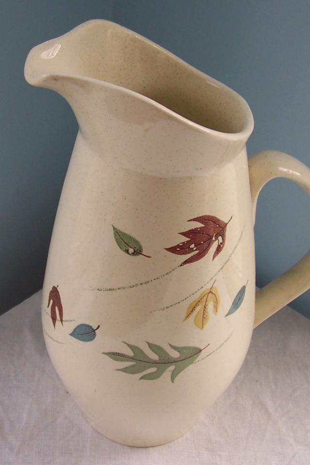 Franciscan Autumn Leaves 56oz Tall Pitcher . Mid Century  Earthenware  Photo