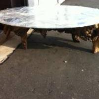 Vintage Rustic Red Wood Root Coffee Table. Photo