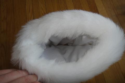Faux Fur Ivory Hand Muff Photo