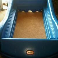 TODDLER CAR BED (LITTLE TIKES) w MATTRESS Photo