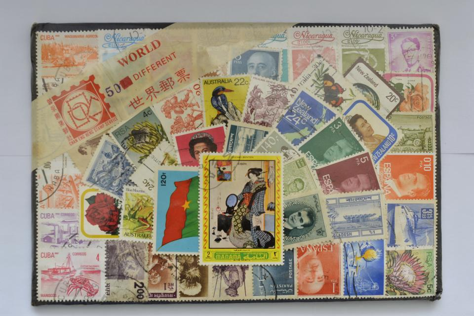 World 50 different stamps Large Photo