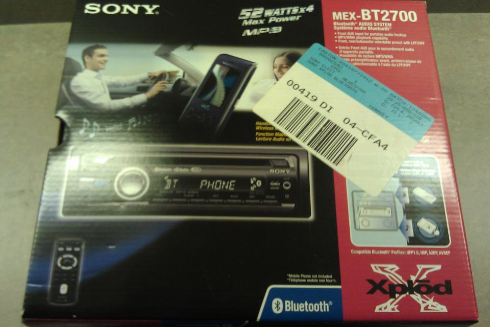 Sony MEXBT2700 CD Receiver with Bluetooth Hands-Free with Integrated Microphone (Black) Used Large Photo
