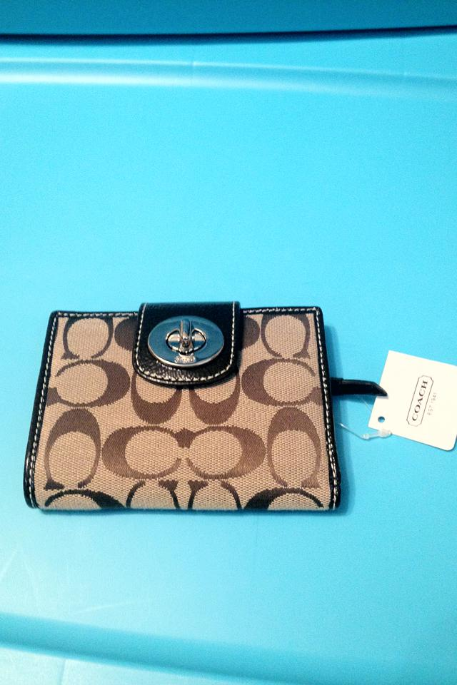 Coach khaki wallet NWT Large Photo