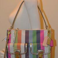 Coach legacy stripe crossbody  Photo